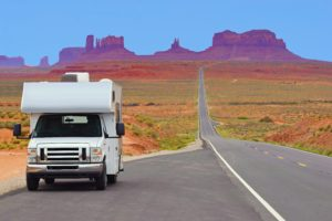 Camper and Arizona Landscape